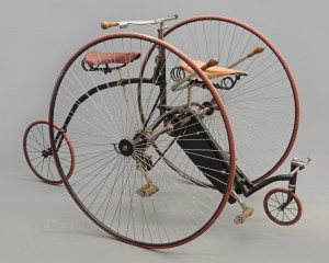 "1886 Singer ""The Traveller Tandem"" made in Coventry (""Humbers Patent"")."