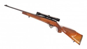 """Weathersby Mark XXII rifle. 42"""" overall L. PLEASE NOTE: We will have a FFL Dealer on site,"""