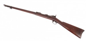 """Springfield Model 1884 Trapdoor rifle. 51"""" L. PLEASE NOTE: We will have a FFL Dealer on site,"""