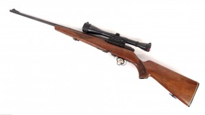"""Savage 340D .222 rifle. 43"""" L. PLEASE NOTE: We will have a FFL Dealer on site, $25.00 per"""