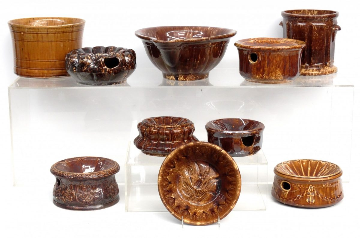 Large Collection of Rockingham Glaze