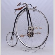 "C. 1885 Rudge ""Kangaroo"" high wheel safety, 40"" chain driven front wheel"