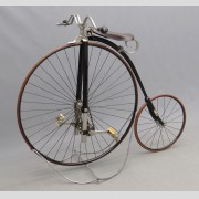 "c. 1886 Columbia safety high wheel bicycle so called ""Kangaroo"", manufactured by Pope Mfg. Co. Boston MA"