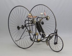 C. 1884 Victor adult high wheel tricycle, this is the first American tricycle