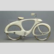 "C. 1960 Bowden ""Spacelander"" bicycle, white fiberglass,"