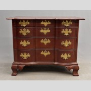 18th c. Massachusetts Block Front Chest Of Drawers