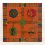 Early 20th c. polychrome painted game board