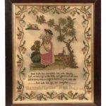 """19th c. needlework sampler """"Hannah Nixons Work Dec. 17, 1806"""""""