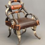 Victorian horn chair.,