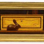 "Ken Davies (b. 1925), ""Sewer Tile Rabbit"", oil on cardboard"