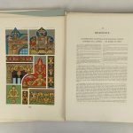 """Series of (3) books: """"L 'Ornament Polychrome"""" (M. A. Racinet), 2nd Series, 1885."""