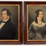 Pair of early 19th c. Upper Saddle River N.J. ancestral portraits