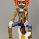 "Contemporary folk art polychrome painted rock star figure. 41"" Ht.."
