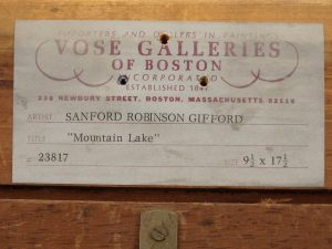 Vose Galleries, Sanford Robinson Gifford label