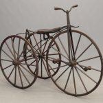 19th c. boneshaker tricycle. Built by Mr. Noyes of Binghamton N.Y..
