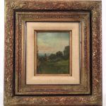 Lot 21. Dwight Tryon (1849-1925), Landscape, Oil on Panel