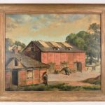 Lot 700. Cordray Simmons (1888-1970), Oil on Masonite