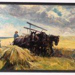 Lot 120. William Koerner (N.J./N.Y./MT./Germany 1878-1938), farming illustration, oil on canvas