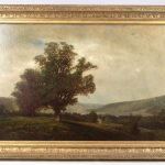Lot 19. Attributed to John Bunyan Bristol (N.Y./Mass. 1826-1909), 19th c. landscape, oil on canvas