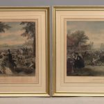 """Lot 2. Pair of 19th c. hand colored engravings, Marked LRC """"Engraved By John McRae N.Y."""", LLC """"Painted By F. A. Chapman""""."""