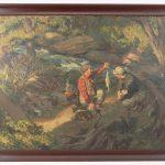 Lot 91. John Falter (New York, Pennsylvania, Nebraska 1910-1982), fishing illustration, oil on canvas laid on panel