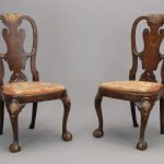 Pair Queen Anne Style Chairs