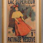 "Early French poster ""LAC SUPERIEUR/PATINAGE RESERVE""."