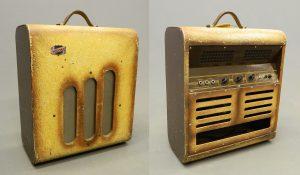 """C. 1947 National Valco Amplifier, serial #V3998. Has 12"""" speaker. Works. SOLD: $400"""