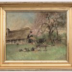 Herman Jean Joseph Richir (1866-1942), Barnyard Scene, oil on panel