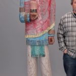 Polychrome painted wooden Cigar store figure. 7' Ht.