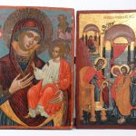Lot (2) wooden Russian Icons