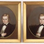 Horace Bundy (Vermont/New Hampshire 1814-1883), pair of 19th c. portraits. Oil on canvas