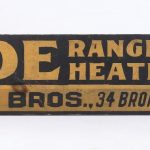 Early wooden trade sign