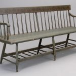 19th c. Paint Decorated Bench