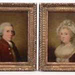 John Downman (United Kingdom 1750-1824), pair 19th c. portraits of Colonel Gordon, of Hawick and Mrs. Gordon