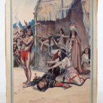 George Alfred Williams (N.J./ME. 1875-1932), original Western illustration. Watercolor, oil on artist board.