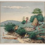 Series of (11) original Canadian watercolors depicting various camp and canoe scenes.