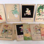 Lot (25) original illustrations of cardboard.