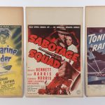 Lot (3) early cardboard movie posters