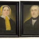 Pair of Pastel Portraits, New Milford CT