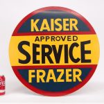 "12. Metal trade sign, ""Kaiser Frazer Approved Service"". Double Sided"