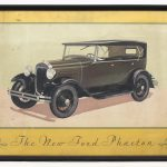 "131. Early original Ford Phaeton artwork ""The New Fod Phaeton"""