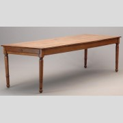 Large French walnut farm table