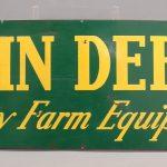 "27. Metal trade sign, ""John Deere Quality Farm Equipment"""