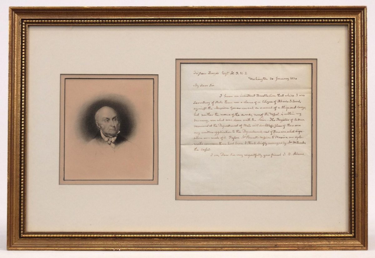 John Quincy Adams Signed Letter