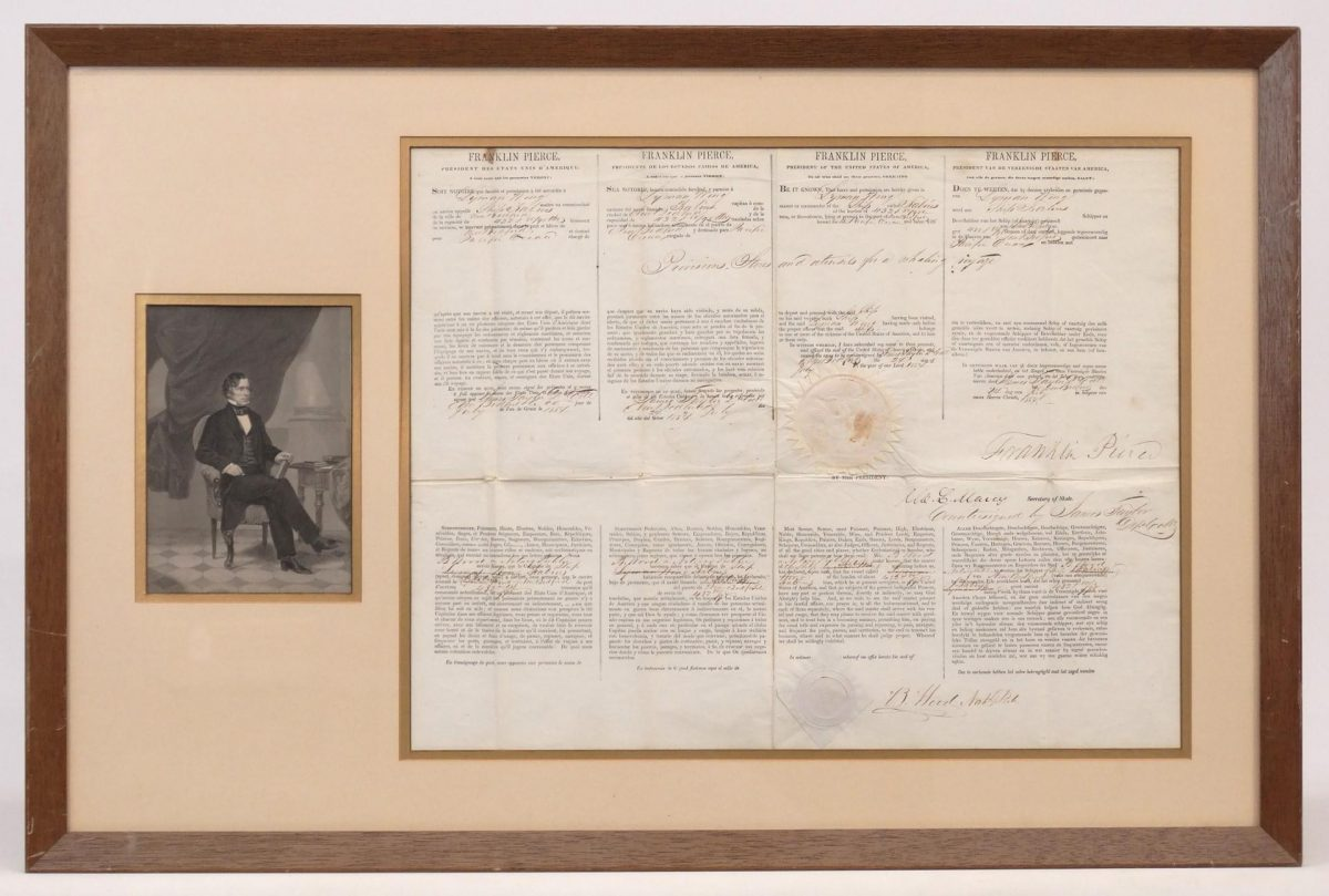 Franklin Pierce Signed Document