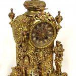 """Early German Brass Clock, """"Lenzkirch"""""""