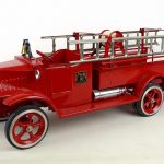 595. Mack red pressed steel fire truck
