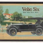 60. Early Veli Six automobile poster
