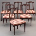 Set of (6) New York Federal mahogany chairs